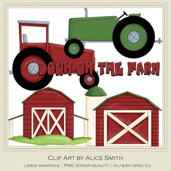 Barns   Tractors Country Farm Clip Art By Alice By Marlodeedesigns  1