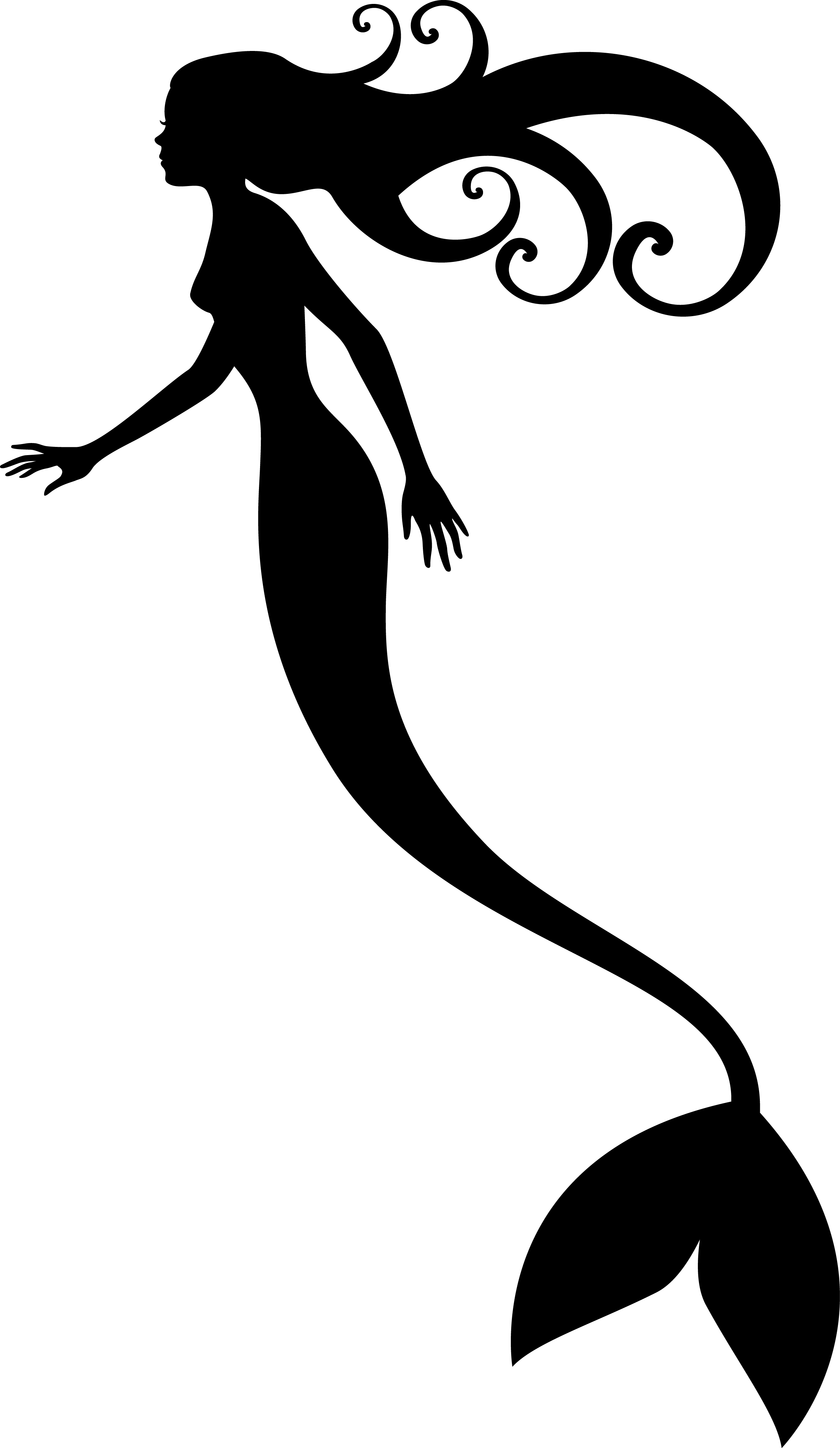 Black Mermaid Silhouette   Clipart Panda   Free Clipart Images