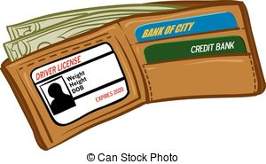 Clip Art Vector And Illustration  404 Leather Wallet Money Clipart