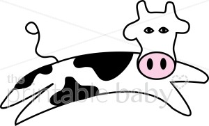 Cow Jumping Clipart - Clipart Kid