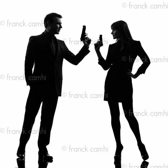 Secret Agent Woman Stock Vectors Vector Clip Art Shutterstock ...
