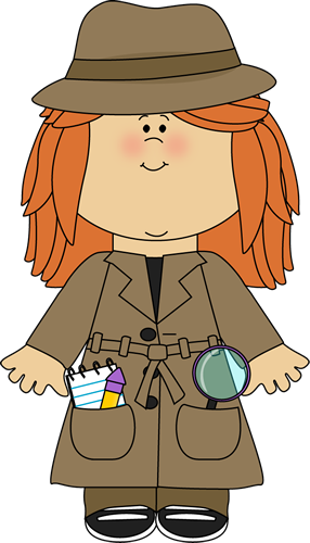 Girl Detective Clip Art Image   Girl Detective Wearing A Brown