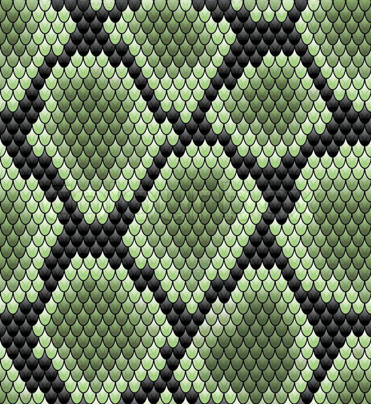 Green Seamless Snake Skin Pattern   Vector   Colourbox