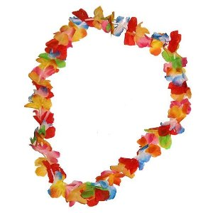 12 Bright Rainbow Hawaiian Flower Lei Party Necklace  Toys   Games