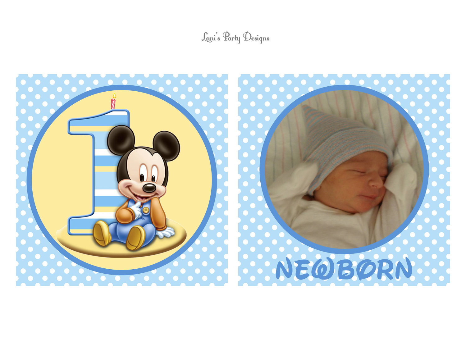Baby Mickey 1st Birthday Clipart - Clipart Suggest