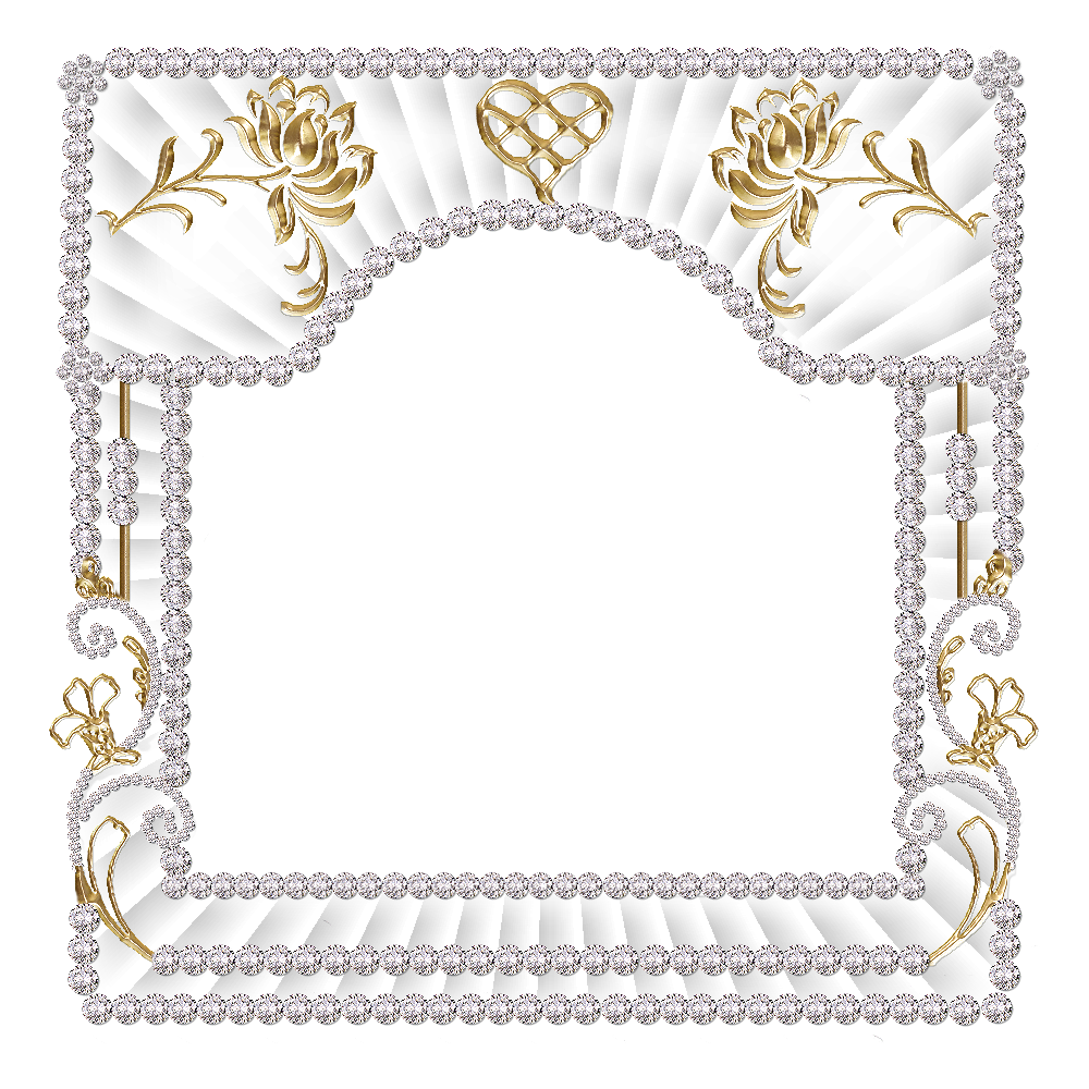 blinged photo frames png png frame