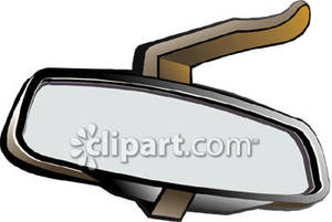 Car S Rear View Mirror   Royalty Free Clipart Picture