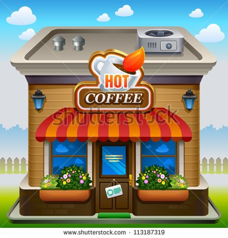 Coffee Shop Building Clipart Vector Illustration Of Coffee