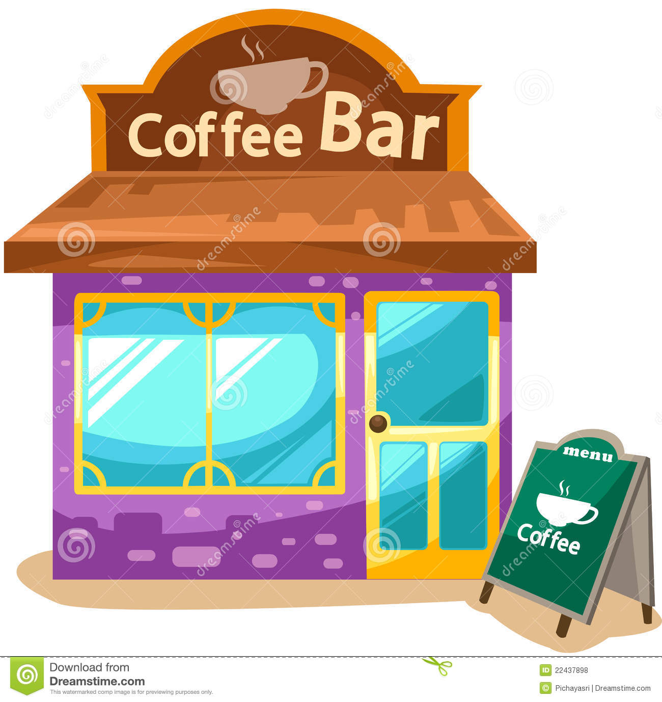 Coffee Shop Royalty Free Stock Photos   Image  22437898