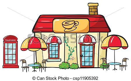 Eps Vectors Of A Coffee Shop   Illustration Of A Coffee Shop On A