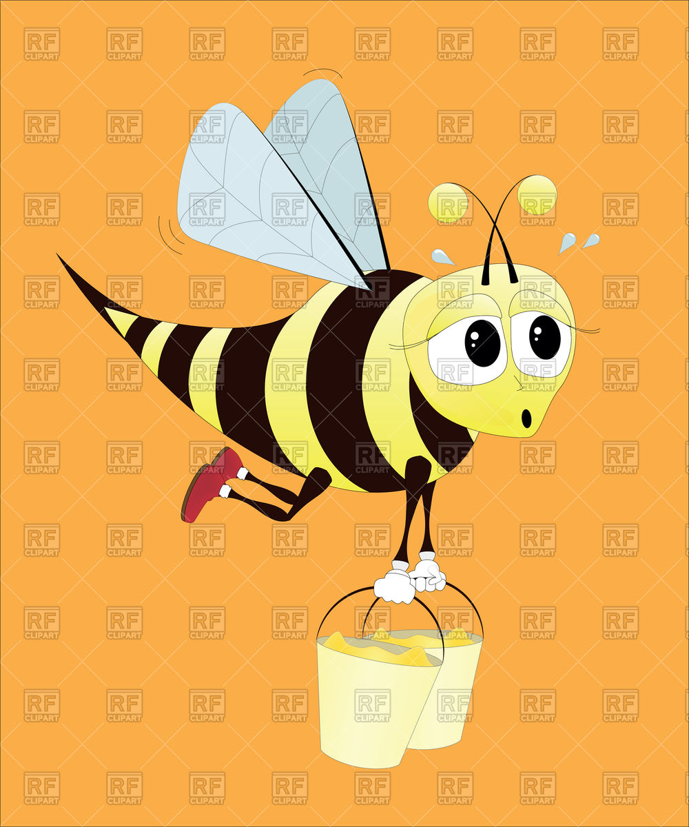 Hard Working Bee 87079 Download Royalty Free Vector Clipart  Eps