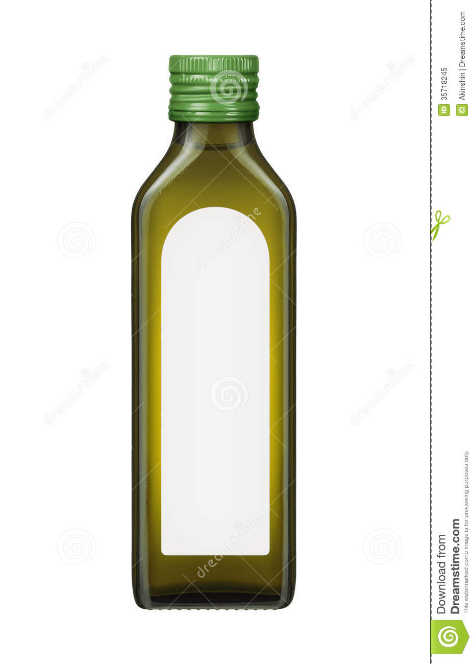 Olive Oil Bottle With Blank Label Royalty Free Stock Photo   Image