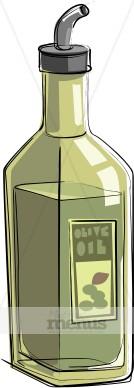 Olive Oil Clipart Ready To Serve A Bottle Of Olive Oil Is Capped With