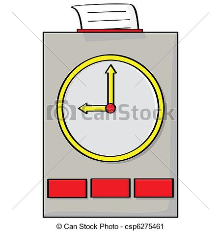 Punch Clock With A    Csp6275461   Search Clipart Illustration