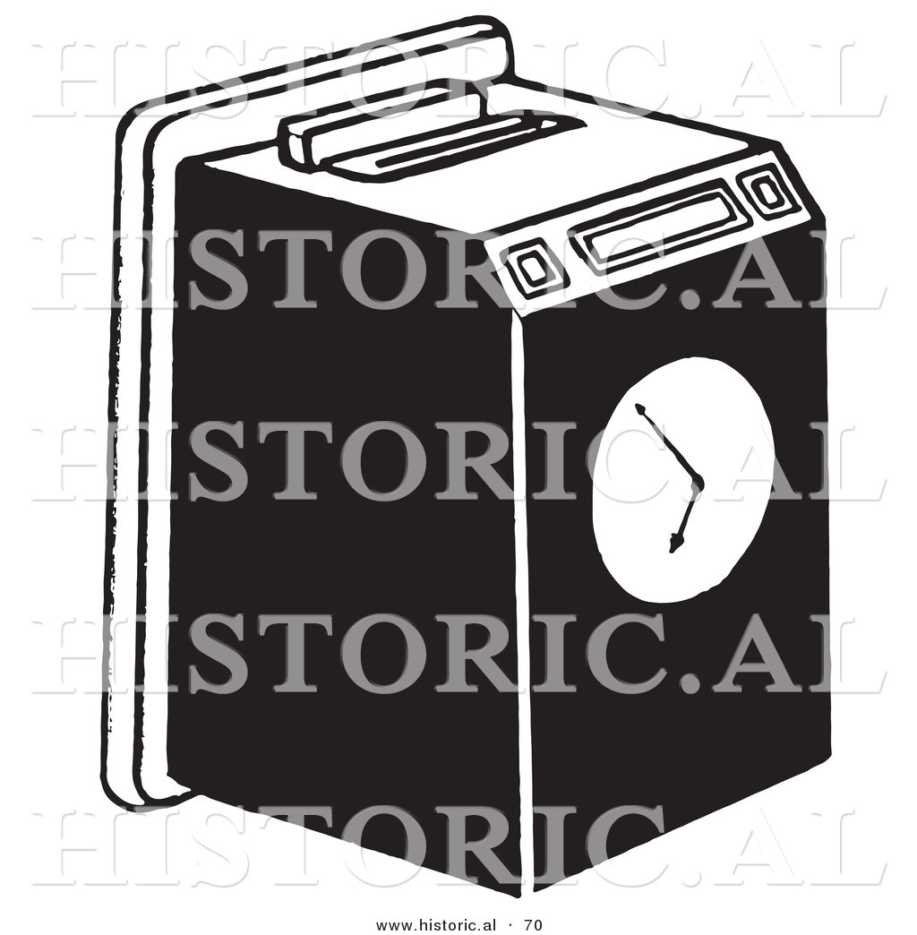 Vector Illustration Of A Work Punch Clock In Card Machine Clipart