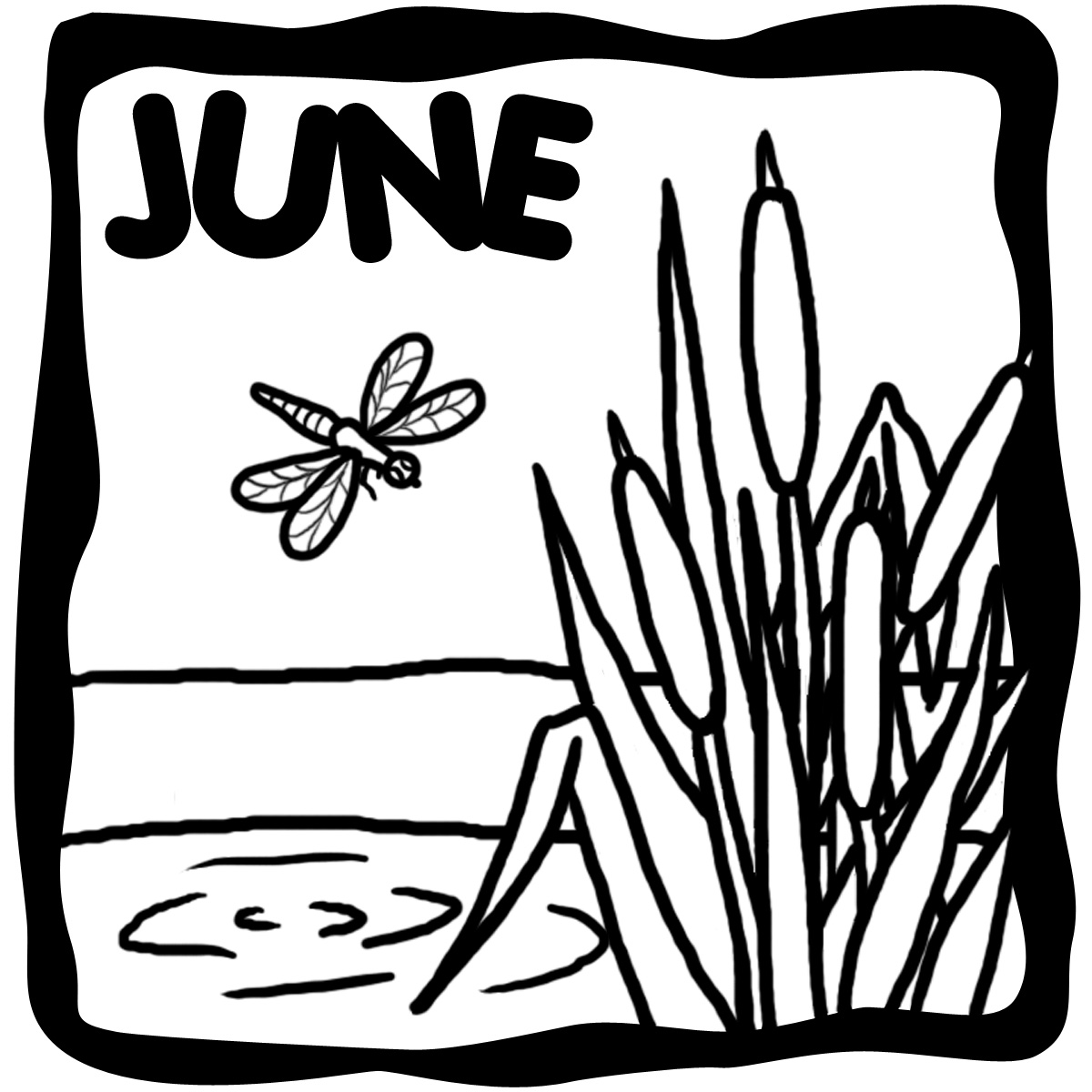 August Calendar Clipart Black And White