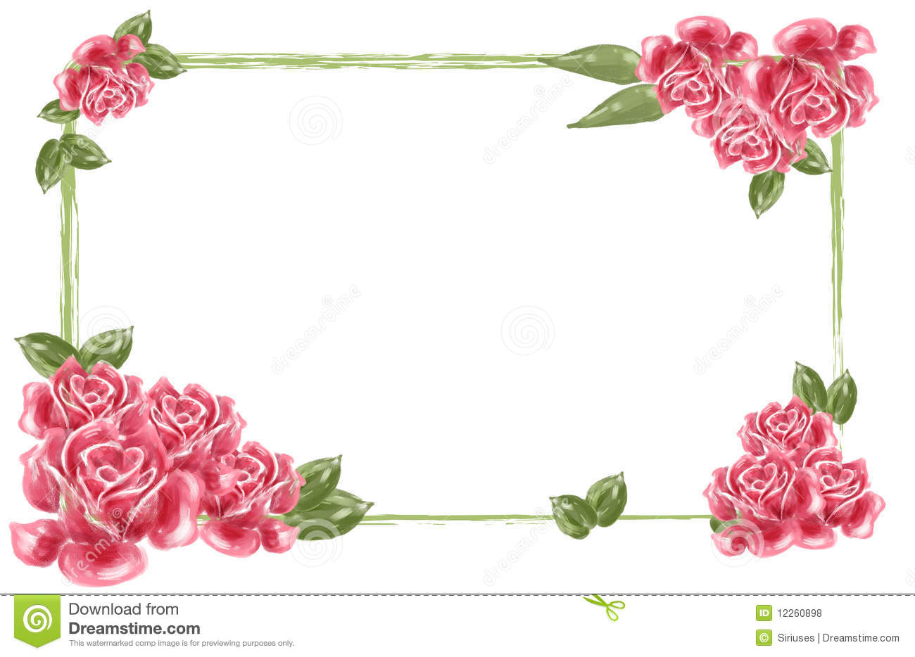 Red Flower Borders Clipart - Clipart Kid