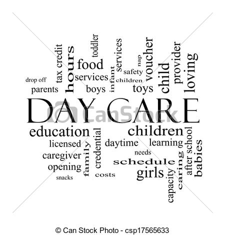 Day Care Black And White Clipart - Clipart Kid