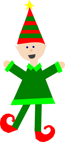 Christmas Elf Clipart - Clipart Kid