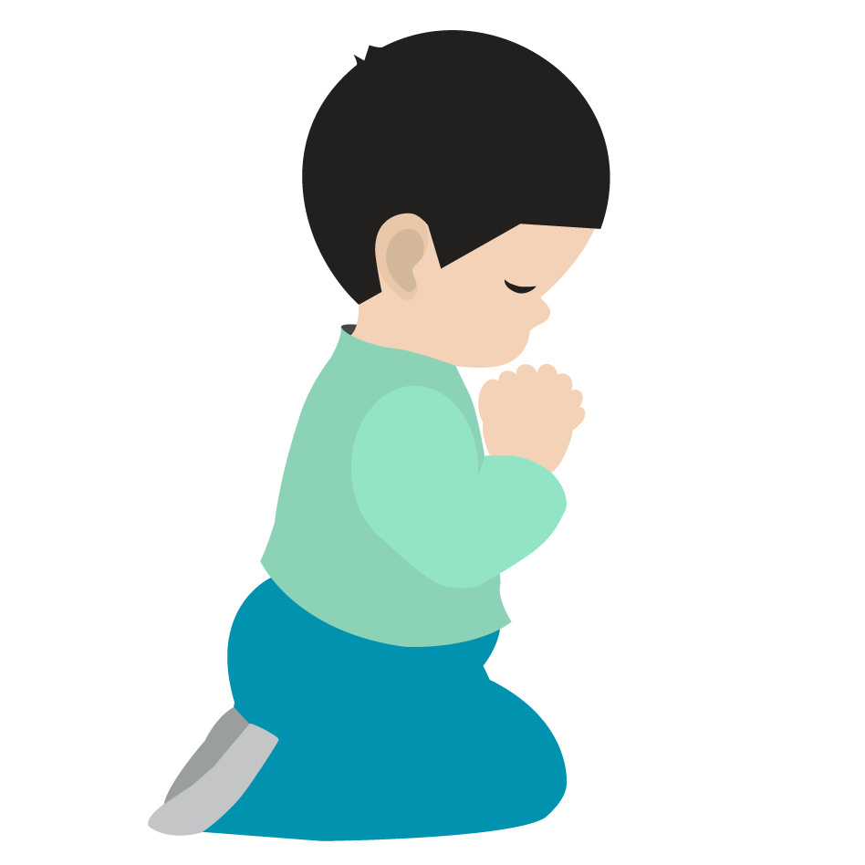 Little Boy S Prayer 02   Christian Clip Art   Crossmap