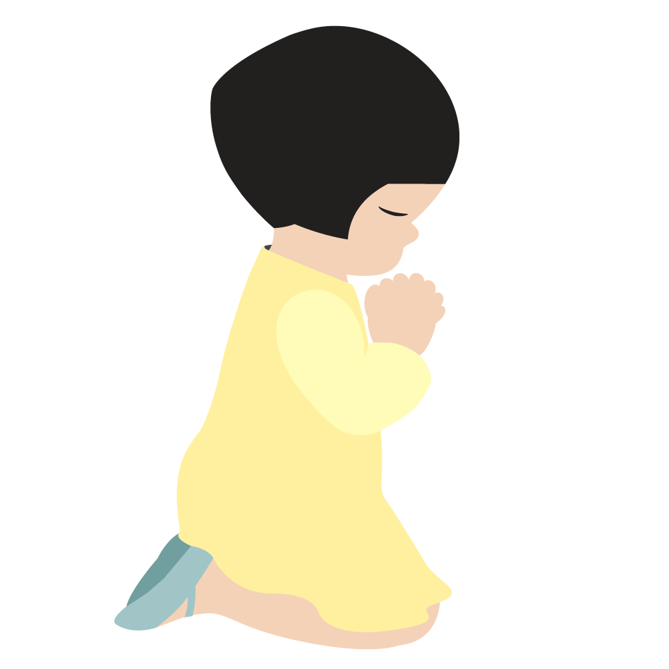 Little Girl S Prayer 02   Christian Clip Art   Crossmap