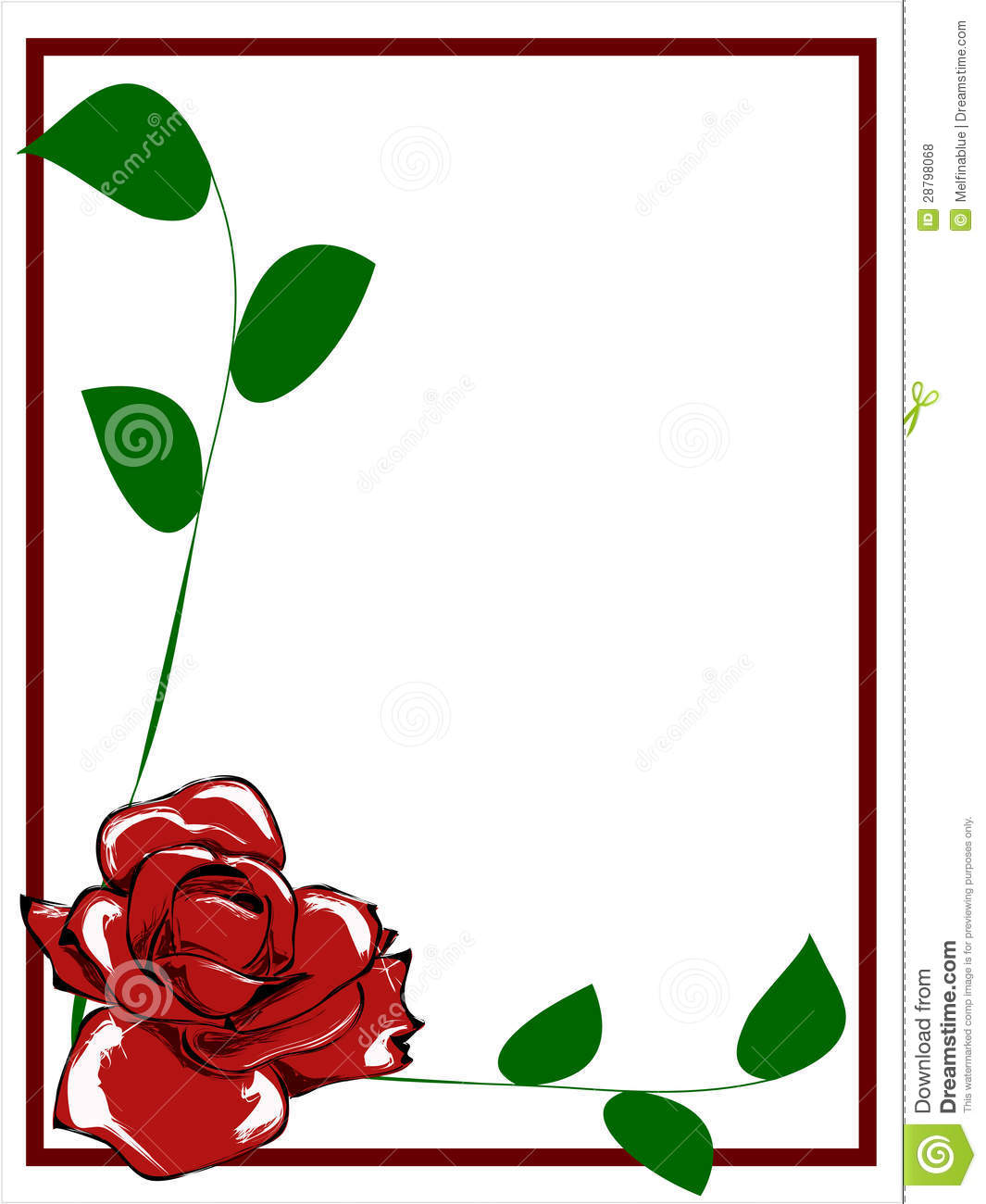 Red Flower Border Clip Art Red Rose Border 28798068 Jpg