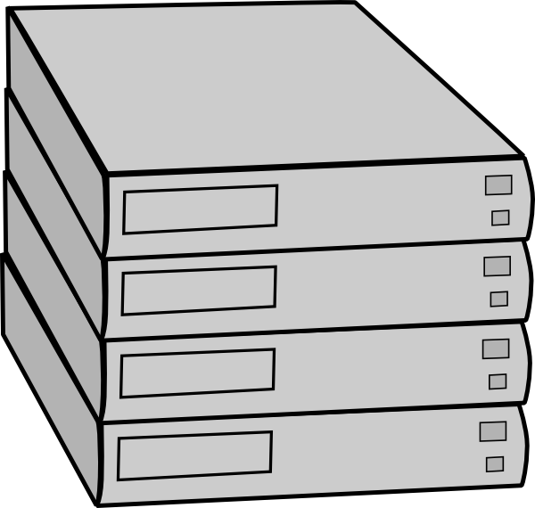 Stacked Servers Without Rack Clip Art At Clker Com   Vector Clip Art