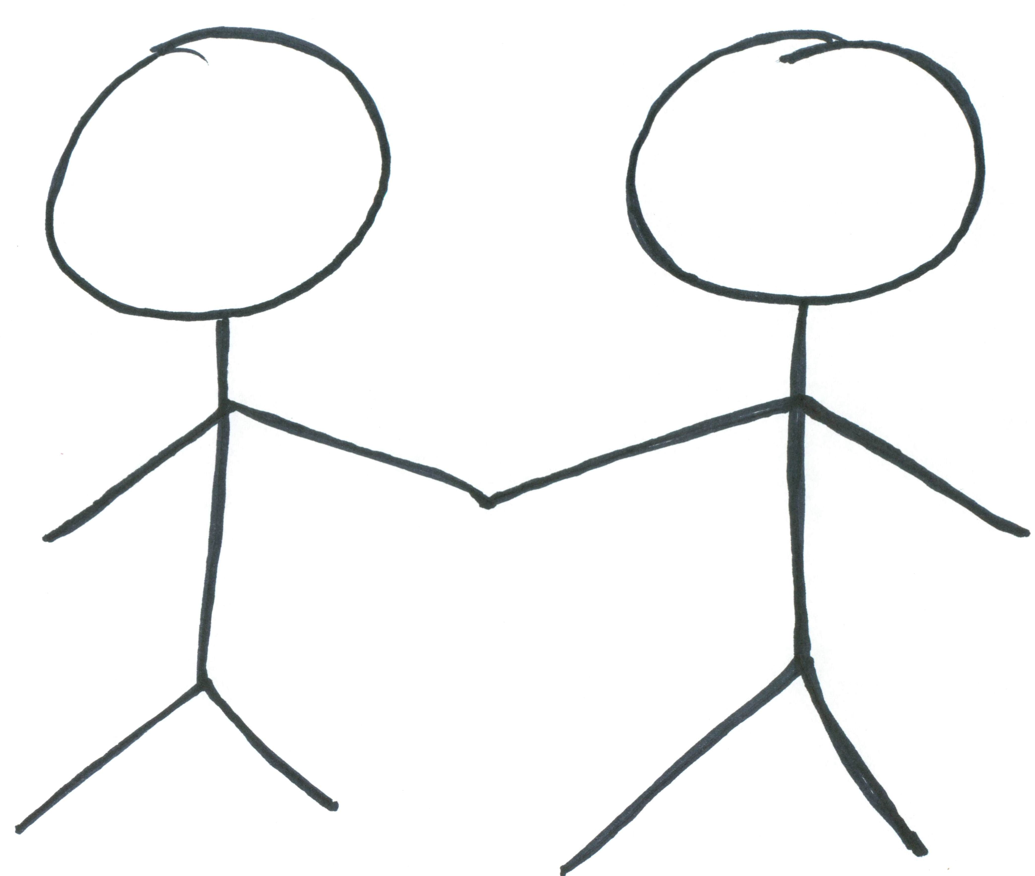 Stick People Holding Hands   Clipart Best