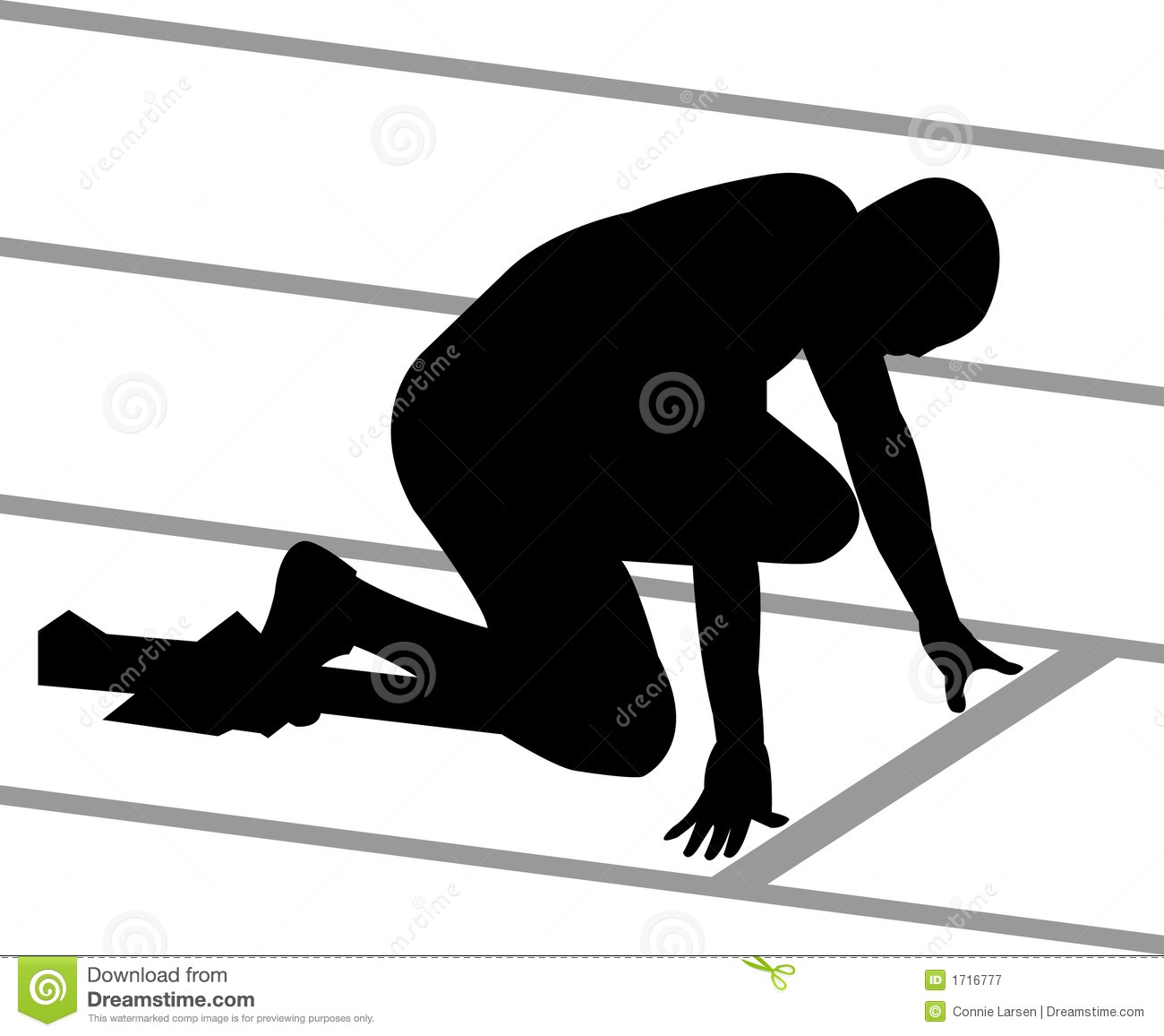 Track Runner Royalty Free Stock Photography   Image  1716777