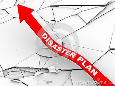 3d Disaster Plan Rising Arrow Royalty Free Stock Photography   Image