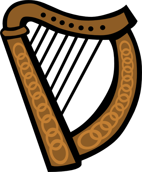 Celtic Harp Clipart - Clipart Kid