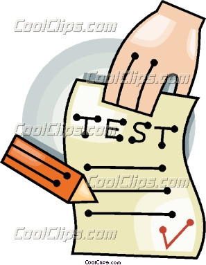 Clip Art School Test Results Clipart