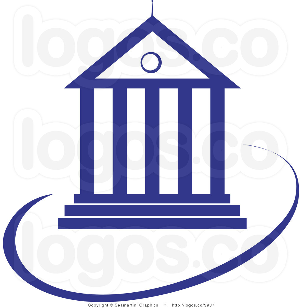 Courthouse Clipart Royalty Free Blue Court House Logo By Seamartini