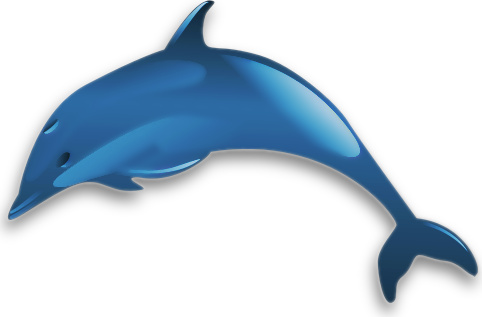 Blue Dolphin Clipart - Clipart Suggest