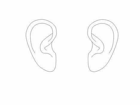 Ear Outlines Clip Art Powerpoint Template Slide2