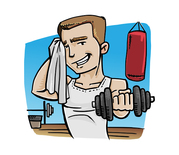 Fitness Guy Vector Character Vector Illustration Of A Fitness