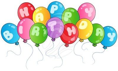 Happy Birthday Balloons Clipart - Clipart Kid