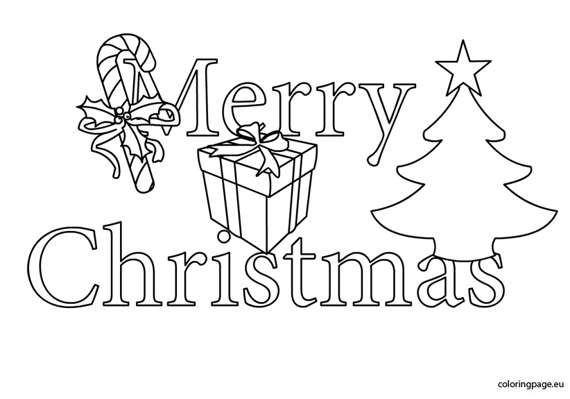 merry christmas images coloring pages - photo#23