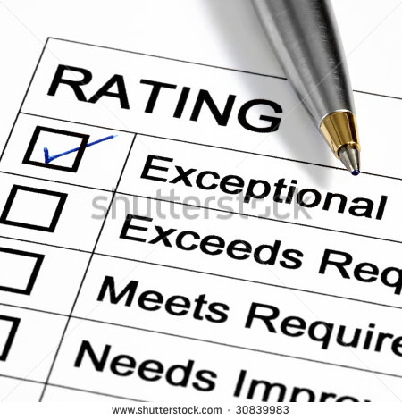 Performance Appraisal Customer Service Rating Business Performance