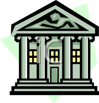 Royalty Free Bank Clip Art Buildings Clipart