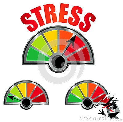Stress Level Meter Stock Photo   Image  27882160