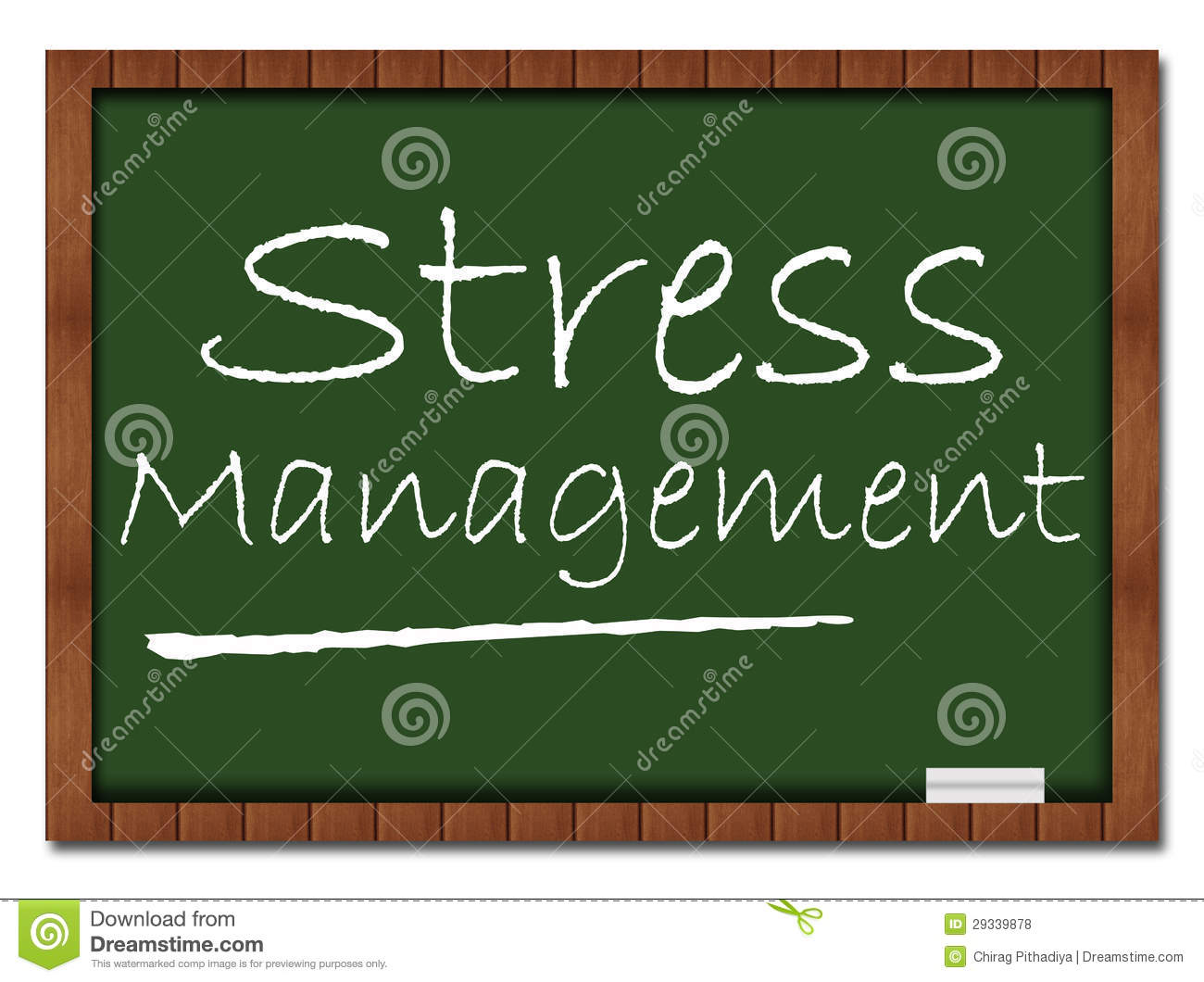 Stress Management   Classroom Board Royalty Free Stock Photos   Image