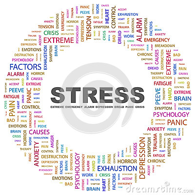 Stress  Word Cloud Illustration  Tag Cloud Concept Collage