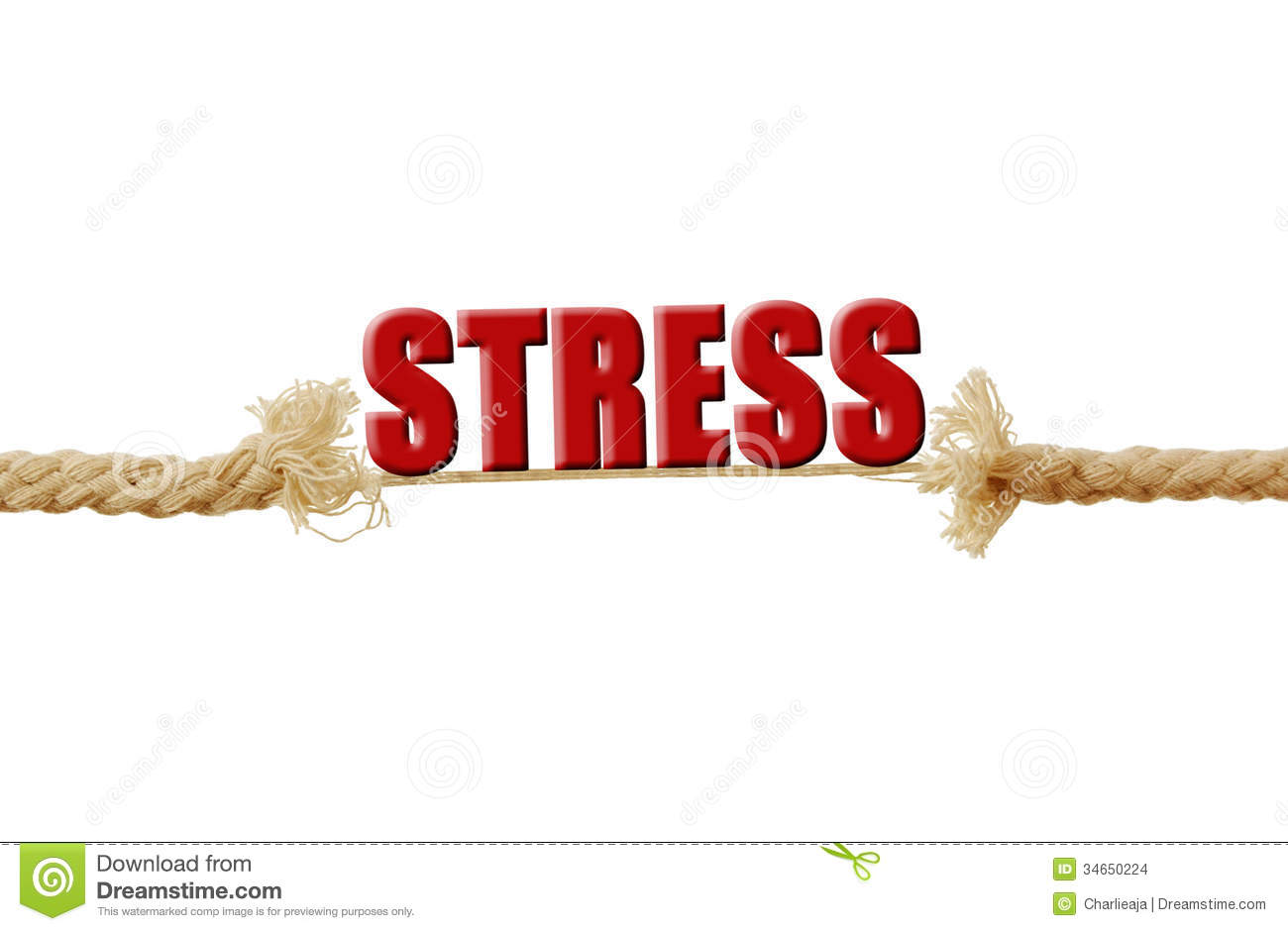 The Word Stress Resting On A Breaking Rope