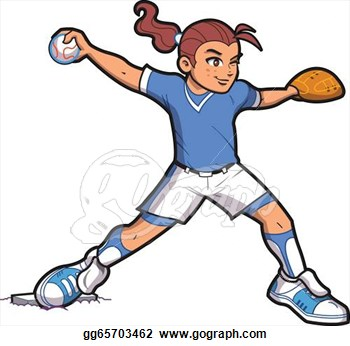 Softball Player Clipart - Clipart Suggest