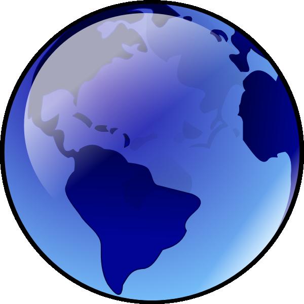 Blue Earth Clip Art At Clker Com   Vector Clip Art Online Royalty