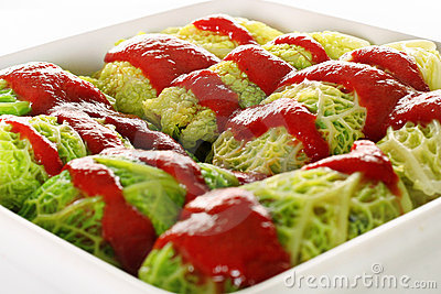 Cabbage Rolls Closeup