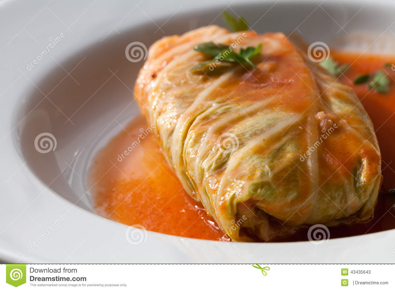 Cabbage Rolls Roulades Traditional Polish Food  Golabki  With Meat