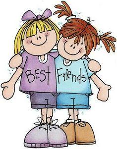 Clip Art Best Friends Clipart clip art girl best friends clipart kid on pinterest picasa and digital scrapbooking