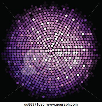 Clipart   Vector Purple Disco Lights Background  Stock Illustration